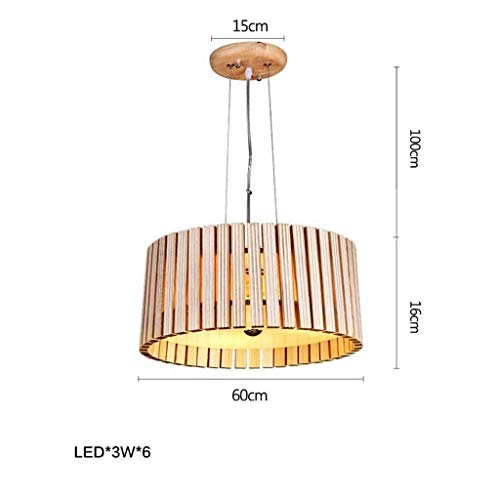 OYE in Lustre Wood Art Restaurant, Creative Lounge Single Led Journal of Bees Lamps and Lanterns of Decoration Chandelier Hanging Line 100Cm Adjustable,B,