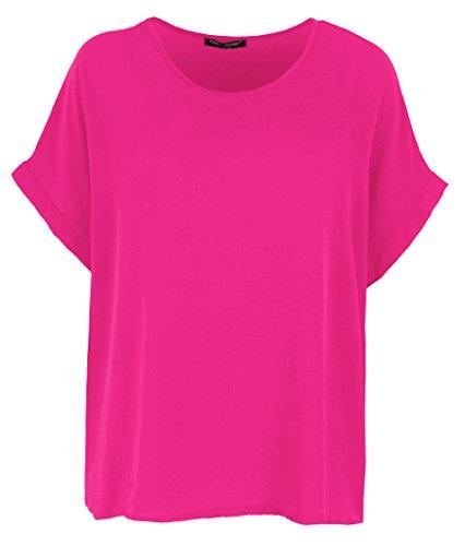 Emma & Giovanni T-Shirt/Oberteile Kurzarm Segelstoffe - Damen (Fuchsie, XL/XXL)