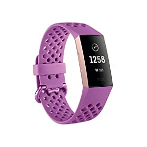 Fitbit Charge 3 Gesundheits und Fitness-Tracker, Berry Sport