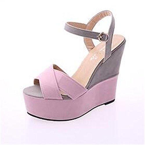 Zormey Sommer Sandalen Damen Schuhe High Heels Keilabsatz Farbe Schuhe Sexy Britischen Loafer Xl 07. 6