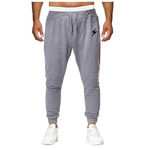 Silber Baggy Shorts (Hosen Shorts Freizeithosen Strumpfhosen Männer arbeiten reine Farben Overall Arbeit beiläufige Hosen Hosen beiläufige Taschensport Hosen um Silber L)