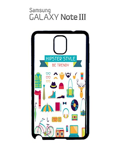 Hipster Life Style Geek Mobile Cell Phone Case Samsung Galaxy S4 Black Blanc