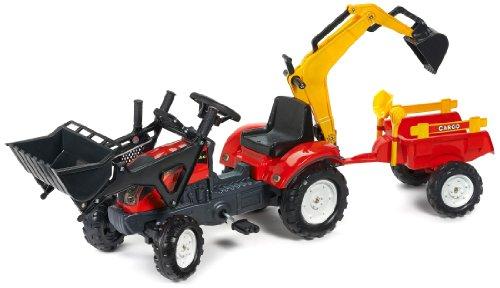 Falk - 2051cn - giochi all'aperto - Terne Trailer Ranch Trac Escavatore Escavatore Rateau &