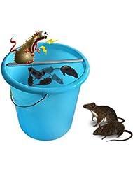 Decdeal Ratonera en Barra Rodante de Acero Inoxidable, Rolling Stick Trampa de Ratones Sin Tóxico Ratas Rollo de Registro Cubo de Roedores Spin Spinning Ringer