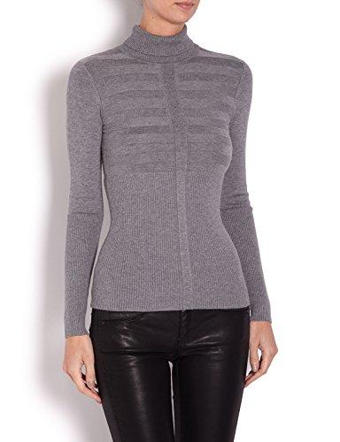 morgan-132-mentos-camisa-de-manga-larga-con-cuello-cisne-unisex-color-gris-gris-chine-clair-talla-38