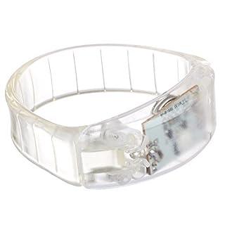 Lilware Dare to Be Visible Hartplastik Partei Bracelet/Armband/Schweißbänder mit LED Blinklicht und Ton Sensor. Transparent