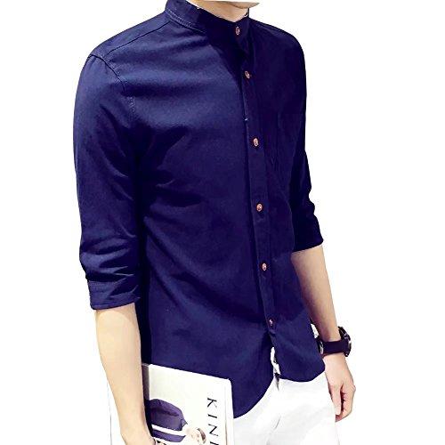 Nautica Jack (BiSHE Herren 100% Baumwolle Kurzarm Button Kragen Sommer Hemd für Männer)