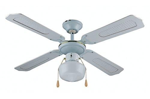 Kooper 2160663 ventilatore soffitto con 4 pale, 106 cm, 60 w, bianco