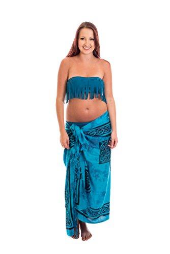 Sarong Pareo Batik telo da mare portafoglio spiaggia sciarpa drappo Tye dye Bali Lila Keltisch 2