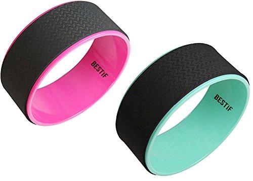 Yoga Wheel | Bestif | Yoga Rad | Pilatesrolle Ideal für Fitness Training Pilates | Hilft den Rücken und Wirbelsäule | Farbenauswahl (Pink)