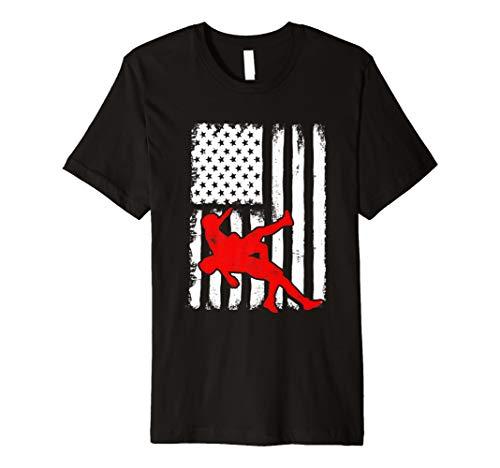 Preisvergleich Produktbild USA Flag Wrestling Shirt for Wrestlers,  Gift,  Red