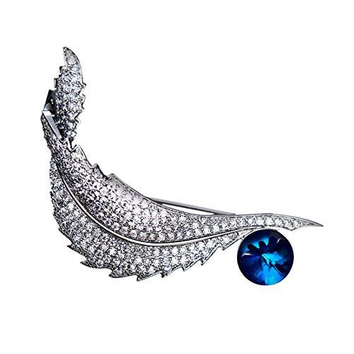 Amody Australian Runde Kristall Blüten-Broschen Stifte fallende Blatt Hochzeits-Bouquet
