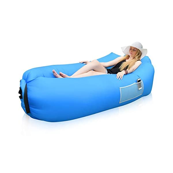 Siphly Inflatable Lounger, Air Sofa Hammock with Headrest, Waterproof & Anti-Air Leaking, Comfortable Inflatable Couch for Pool & Beach Parties, Traveling Camping Picnics & Backyard, Music Festivals 1