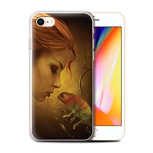 Officiel Elena Dudina Coque / Etui Gel TPU pour Apple iPhone 8 / Pack 5pcs Design / Dragon Reptile Collection Cameleon