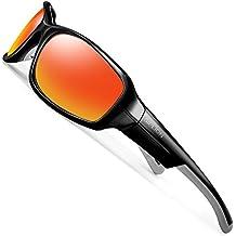 SIPLION Hombre Gafas De Sol UV400 Polarizado Lente TR90 Superlight Marco