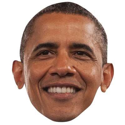 rack Obama Maske aus Karton ()