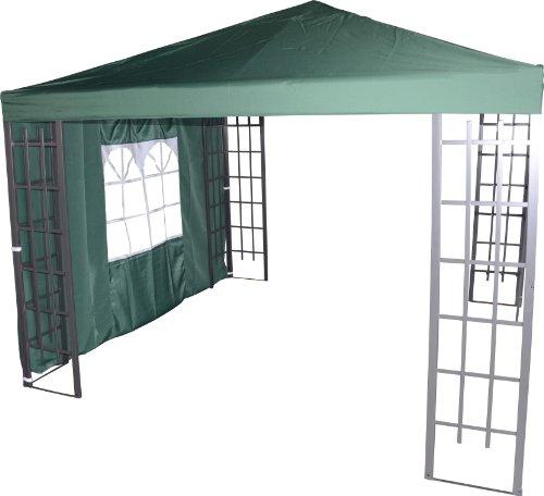 Pavillon Seitenteil Royal grün mit Fenster 3x1,9 Meter
