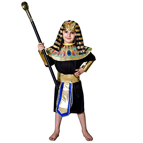 SEA HARE Ägyptisches Pharao Kostüm für Jungen (L :10-12 - Pharao Kostüm Junge