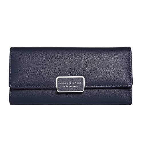 Masterein Frauen Lange Wallet RFID Blocking Mädchen Handtasche PU-Leder-große Kapazitäts-Mappen-Beutel-Geldbeutel-Münzen-Kartenhalter -