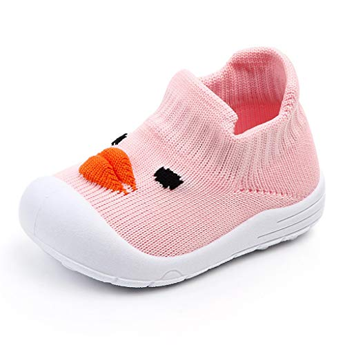 koperras Baby Jungen und Mädchen Cartoon Ente fliegen gewebt Mesh Sneakers Socken Schuhe Freizeitschuhe Mesh Schuhe EIN Pedal rutschfesten Komfort (Baby Converse Schuhe Krippe)