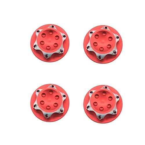 Comie Radnaben Sechskantmutter Abdeckung, Aluminium Radnabenabdeckung Staubschutz Abdeckung 17mm HEX Mutter Für RC 1/8 Modell Auto 4 STÜCKE (Rot)