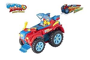 SuperZings- PlaySet Heroe Truck Vehículos y Figuras Especiales, Color rojo, única (Magic Box PSZSP112IN20)