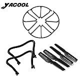 Yacool ® Drone Ricambi Kit includono 4 lame / lama 4 coperchio di protezione /...