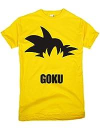 GIOVANI & RICCHI Herren Songoku Fitness Shirt T-Shirt Super Saiyajin Evolution in verschiedenen Farben