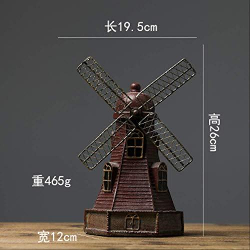 YUANYSBJ Statue Dekoration Nordischen Stil Kreative Harz Niederländische Windmühle Modell Vintage Kleine Haushalt Wohnzimmer DekorationG