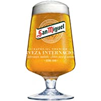 San Miguel stylish Chalice pint glass by San Miguel