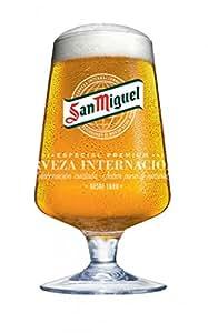 San Miguel Lot de 2 verres à bière avec sous-bocs 568 ml