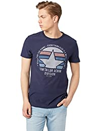 TOM TAILOR Denim Herren T-Shirt Crewneck Tee with Frontartwork