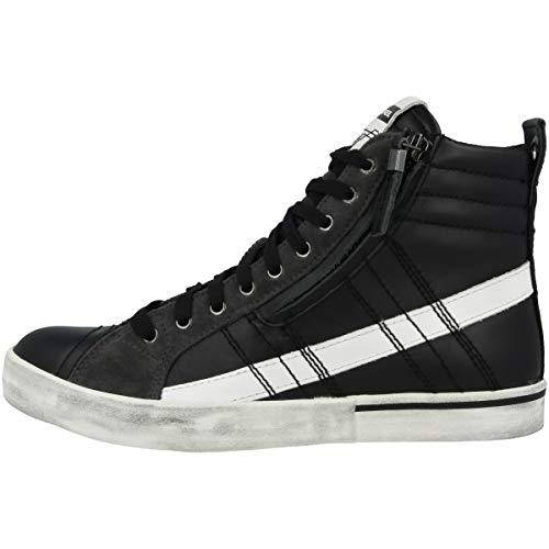 Diesel - sneaker da uomo d-velows mid lace, nero (black-castlerock (y01759-p1738-h1888)), 46 eu