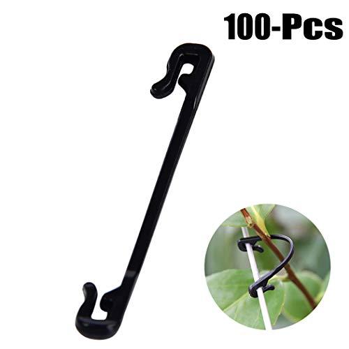Fansport 100 STÜCKE Pflanze Clip Kunststoff Pflanze Unterstützung Clip für Reben Gemüse Wachsen Aufrecht -
