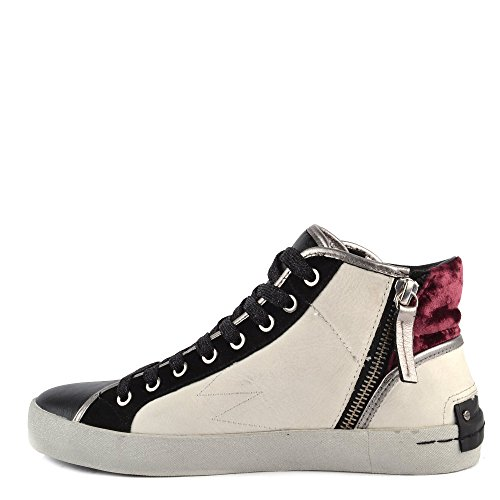 Crime London Scarpe Faith Hi Explosion Sneaker Donna Bianco