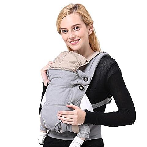 Baby-Träger Breathable Cotton Hüft-Sitzträger Ergonomisches Design Variety Carry Ways mit abnehmbarem Sitz Einstellbare Neugeborene Portable Multifunktions-Rucksackträger 3-36 Monate Max 20kg , gray