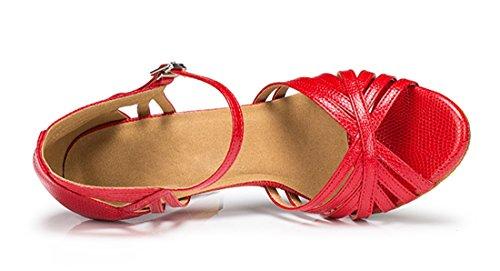 TDA , Peep-Toe femme 10cm Heel Red