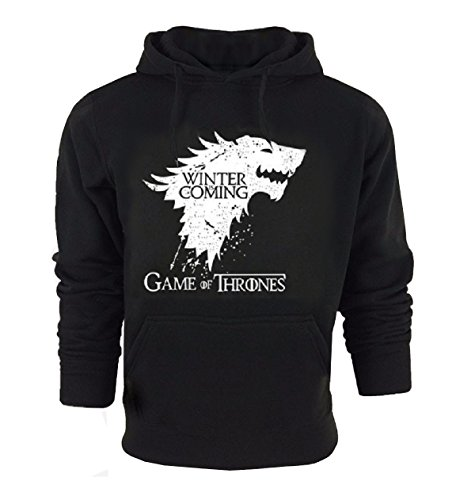 Sudadera - Game of Thrones - Winter is Coming - Casa Stark - Negro - c