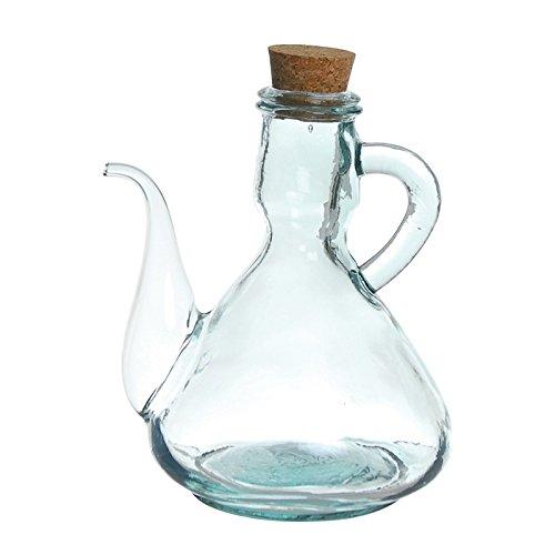 Excelsa Leidenschaft Farbe Ölkanne/Ölspender 0.5Liter, Glas durchsichtig - Olivenöl-glas-glas