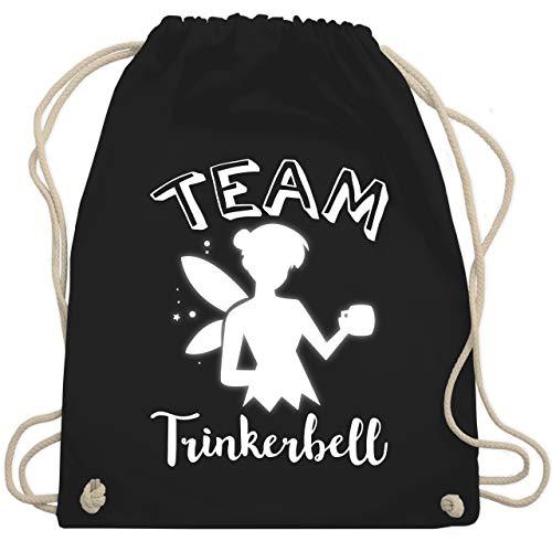 Typisch Frauen - Team Trinkerbell Mädelsabend - Unisize - Schwarz - WM110 - Turnbeutel & Gym Bag