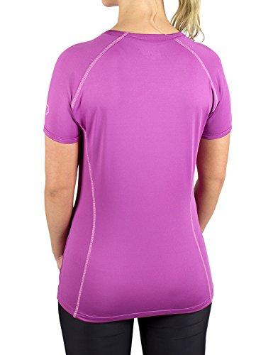 Gregster T-shirt de sport fonctionnel pour femme à col rond Violet - Violet