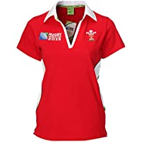Official WRU Ladies RWC 2015 Short Sleeved Welsh Rugby Shirt (16-18)