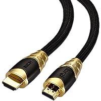 IBRA® Premium BLACK 1.5M ( 1.5 metri ) Cavo HDMI v2.0 / 1.4a alta velocita con Ethernet, 3D e ARC,4k x 2k ULTRA HD