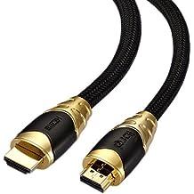 IBRA® Premium BLACK 2M ( 2 metri ) Cavo HDMI v2.0 / 1.4a alta velocita con Ethernet, 3D e ARC,4k x 2k ULTRA HD