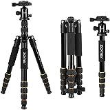 """ZOMEI Q666 Aluminium Trépied Professionnel avec la tête de balle 1/4"""" plaque de déblocage rapide sac de transport pour Nikon Canon Sony DSLR Caméras"""