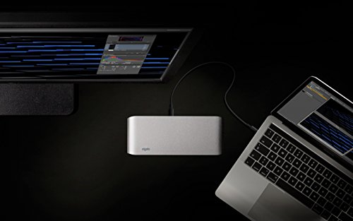 Elgato Thunderbolt™ 3 Dock with 50 cm Thunderbolt cable, 40Gb/s, 85W MacBook Pro charging, dual 4K support, 2x Thunderbolt 3 (USB-C), 3x USB 3.0, audio input and output, Gigabit Ethernet, aluminum chassis