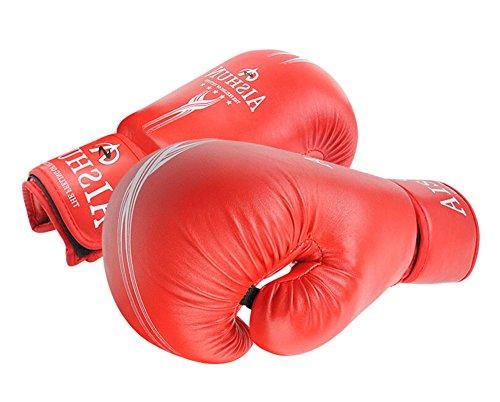 Komfortable Erwachsene Boxen Martial Arts Trainingshandschuhe ROT, 10 Ounce