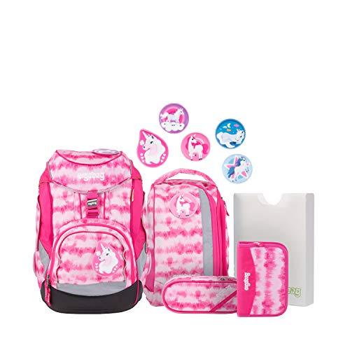 ergobag Pack Schulrucksack-Set 6tlg. ZauBärwatte 20 Liter Pink Weiß