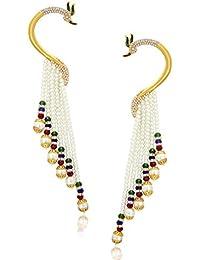 Sukkhi Wedding Jewellery Ear Cuff Earrings for Women (Golden) (38036ECGLDPP850)