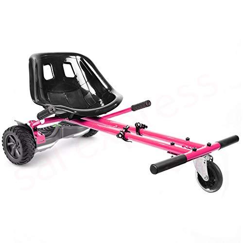 enyaa 2018 Modell, verstellbar, Hoverkart für 16,5/20,3/25,4 cm Hoverboard-Zubehör, Smart Electric Scooter Go Karting Kart für Erwachsene und Kinder, pink Non sus